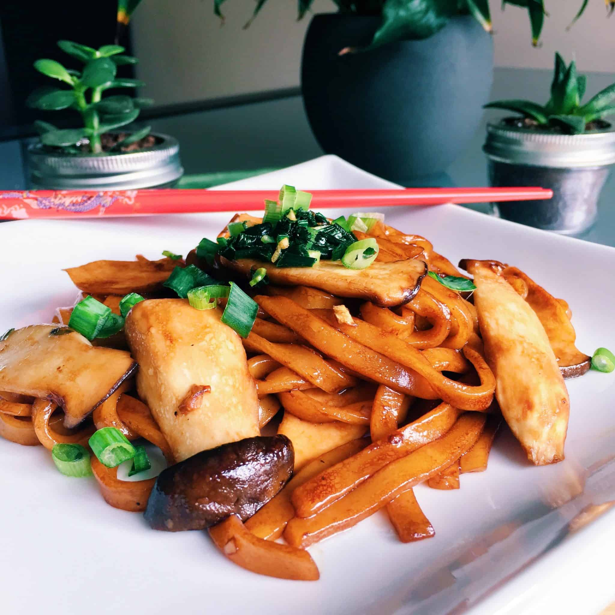 Mushroom Soy Udon
