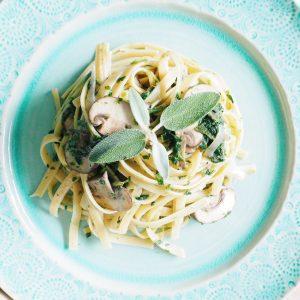 Creamy Mushroom Sage Pasta