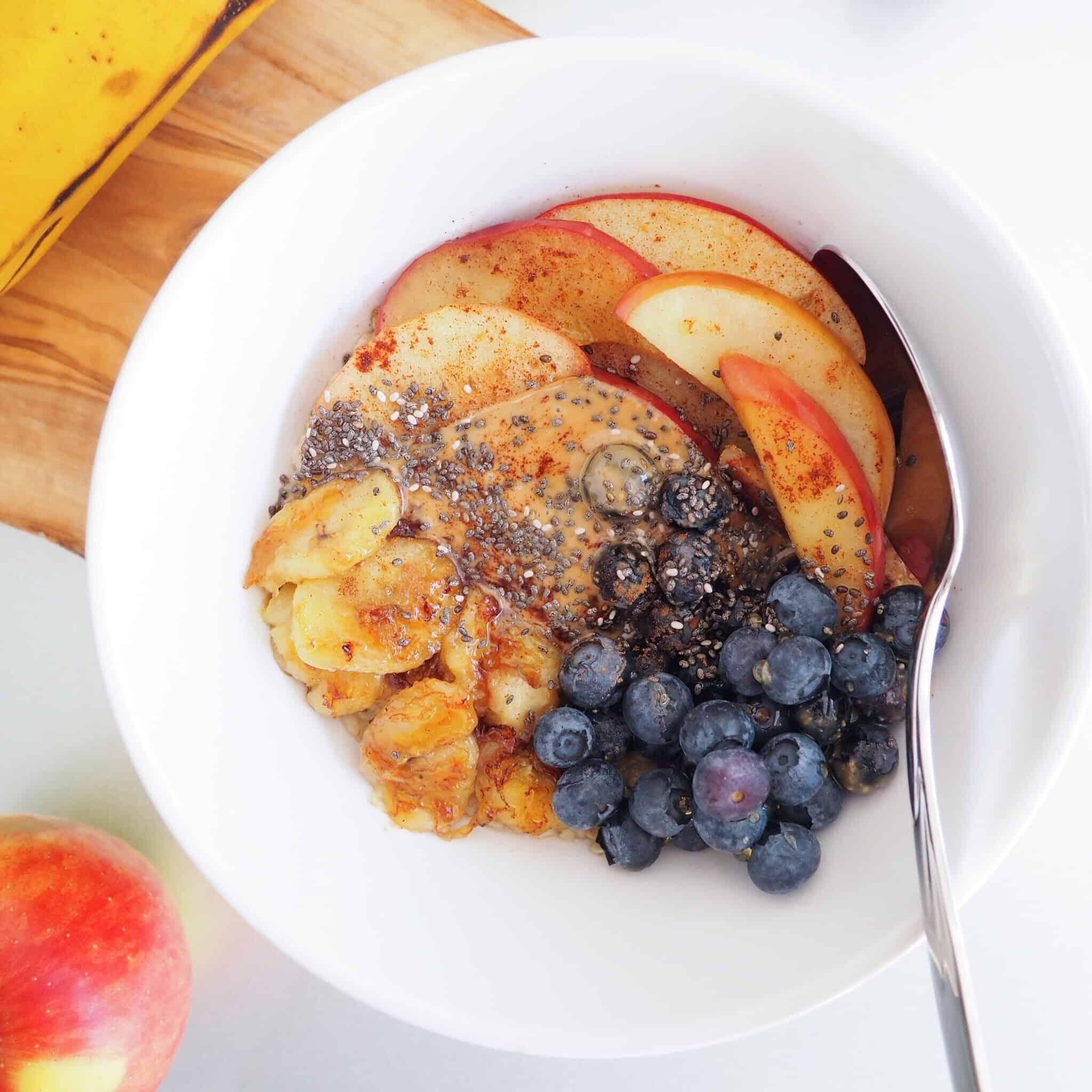 sauteed banana apple oatmeal