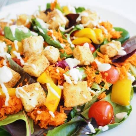 Crispy Ranch Tofu Salad