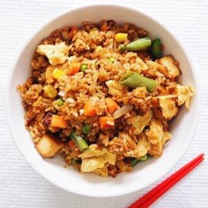 egg tofu fried rice