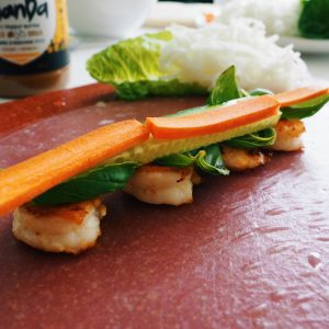 fresh shrimp rolls