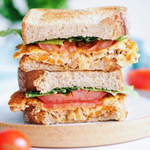 kimchi omelette sandwich