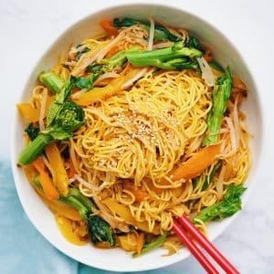 chinese veggie lo mein