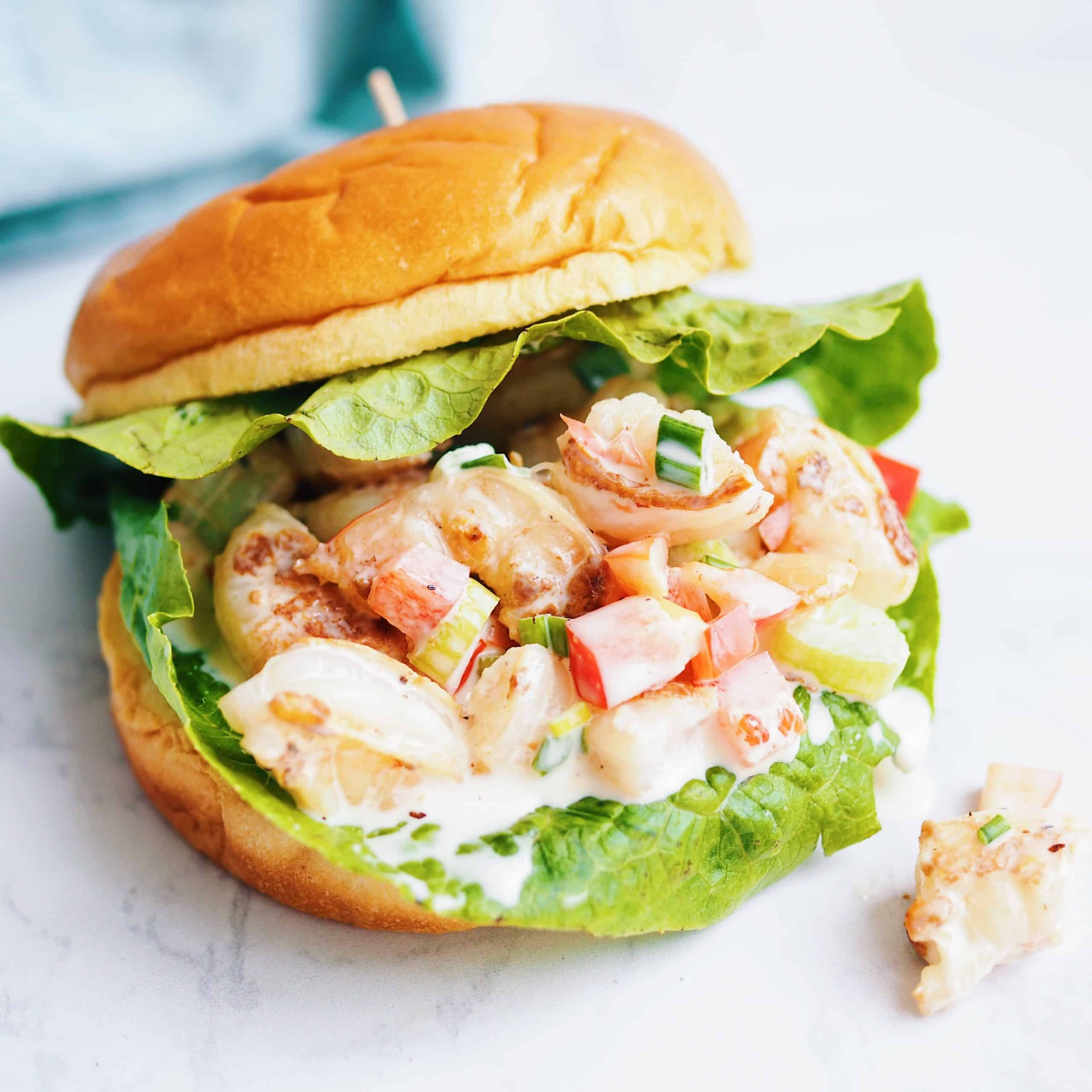 Shrimp Salad Sandwich 15 Minute Recipe Christie At Home
