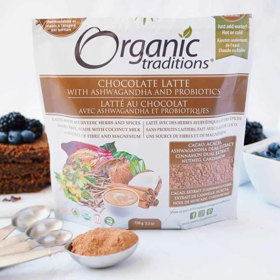 Organic Traditions Chocolate Latte Mix for Gluten-Free Chocolate Hazelnut Blondies