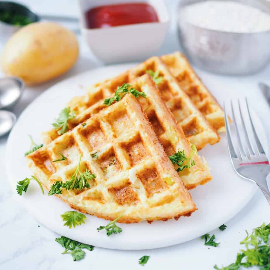 Potato Onion Waffle