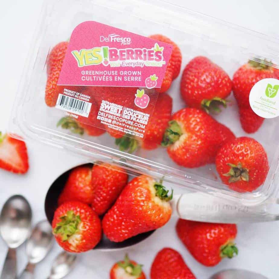Yes! Berries by DelFrescoPure that are certified pesticide free. They were used in my Vegan Strawberry Milk Recipe.