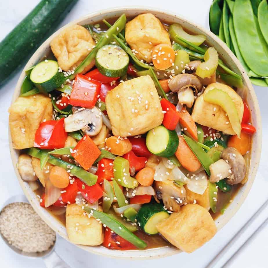 Asian Stir Fried Veggies and Tofu