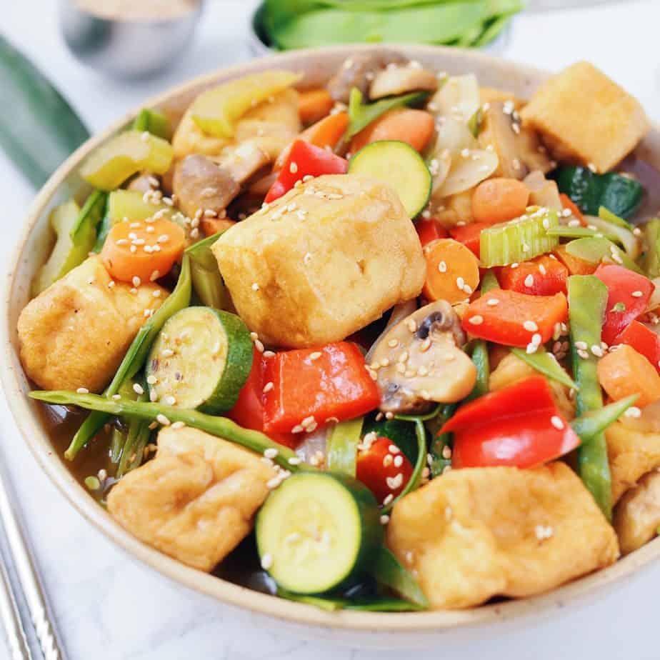 Asian Stir Fried Tofu & Vegetables