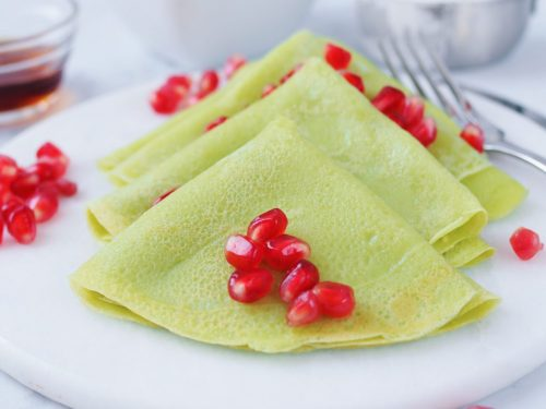Pandan Crepes 30 Minute Recipe Christie At Home Learn to make these delicious coconut flour crepes! dairy free pandan crepes 20 min recipe