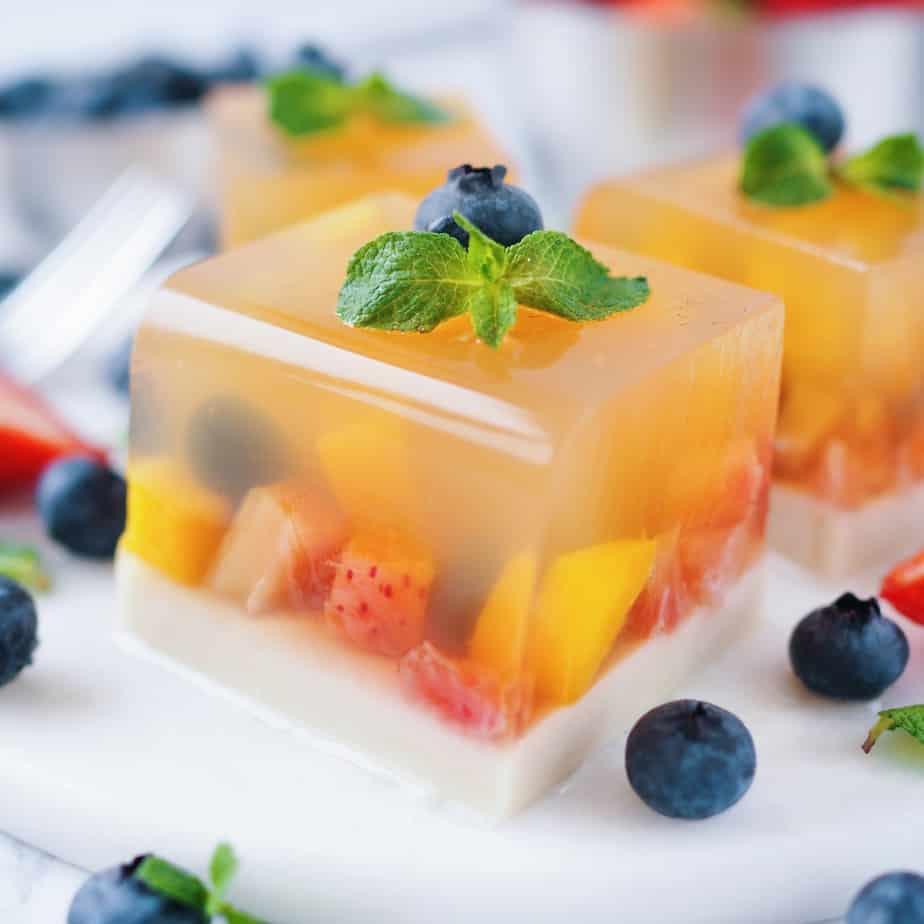 vegan fruit jellly cake
