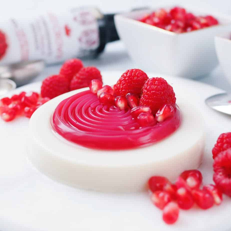 Vegan Pomegranate Panna Cotta