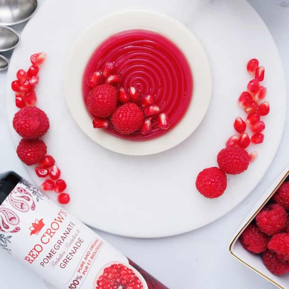 Vegan Pomegranate Panna Cotta