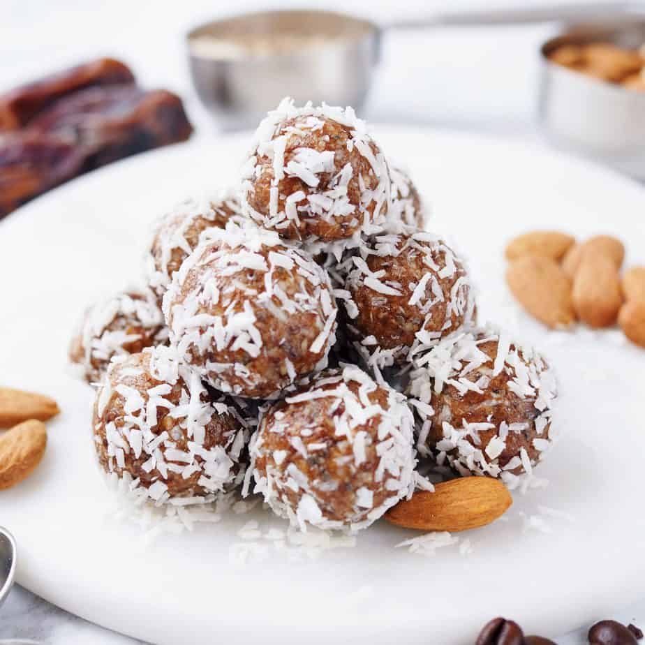 Asian Coffee Coconut Energy Balls