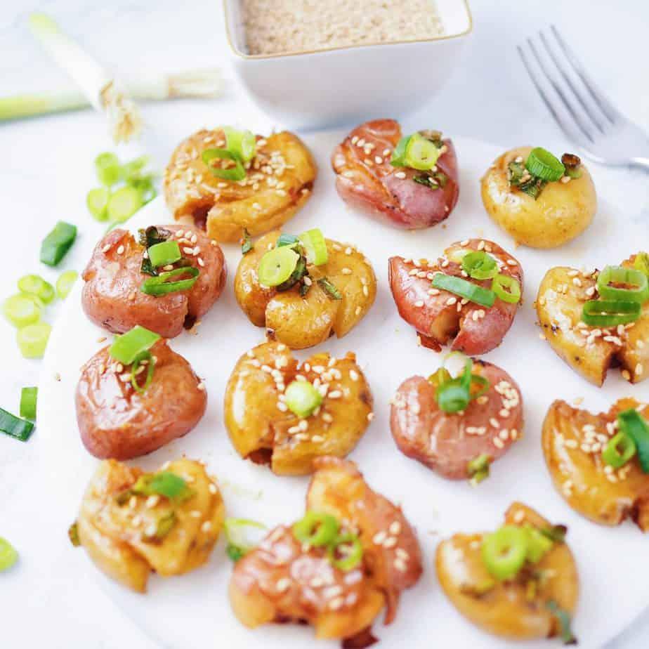 Asian Sesame Smashed Potatoes