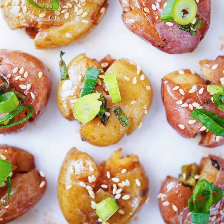 Asian Sesame Smashed Potatoes