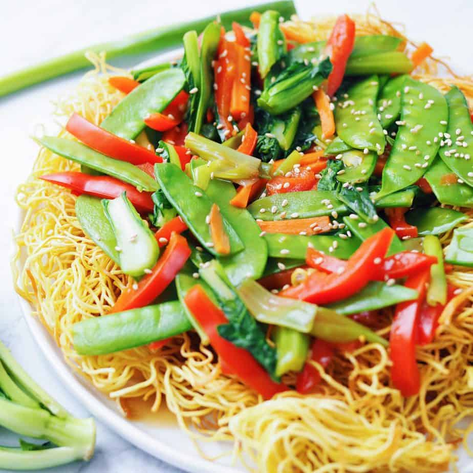 Cantonese Vegetable Chow Mein