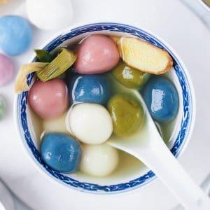 Sweet Glutinous Rice Balls (Tang Yuan)