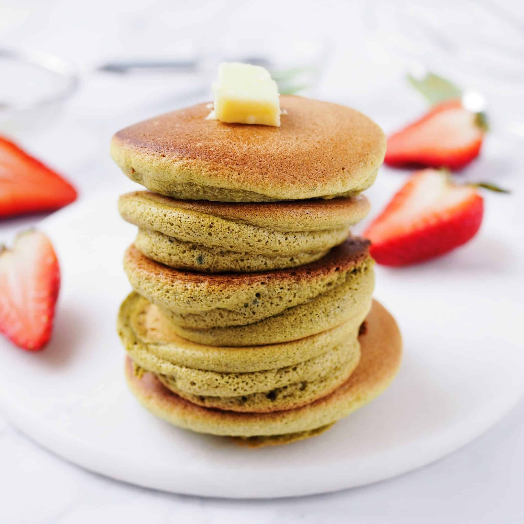 Japanese Matcha Souffle Pancakes