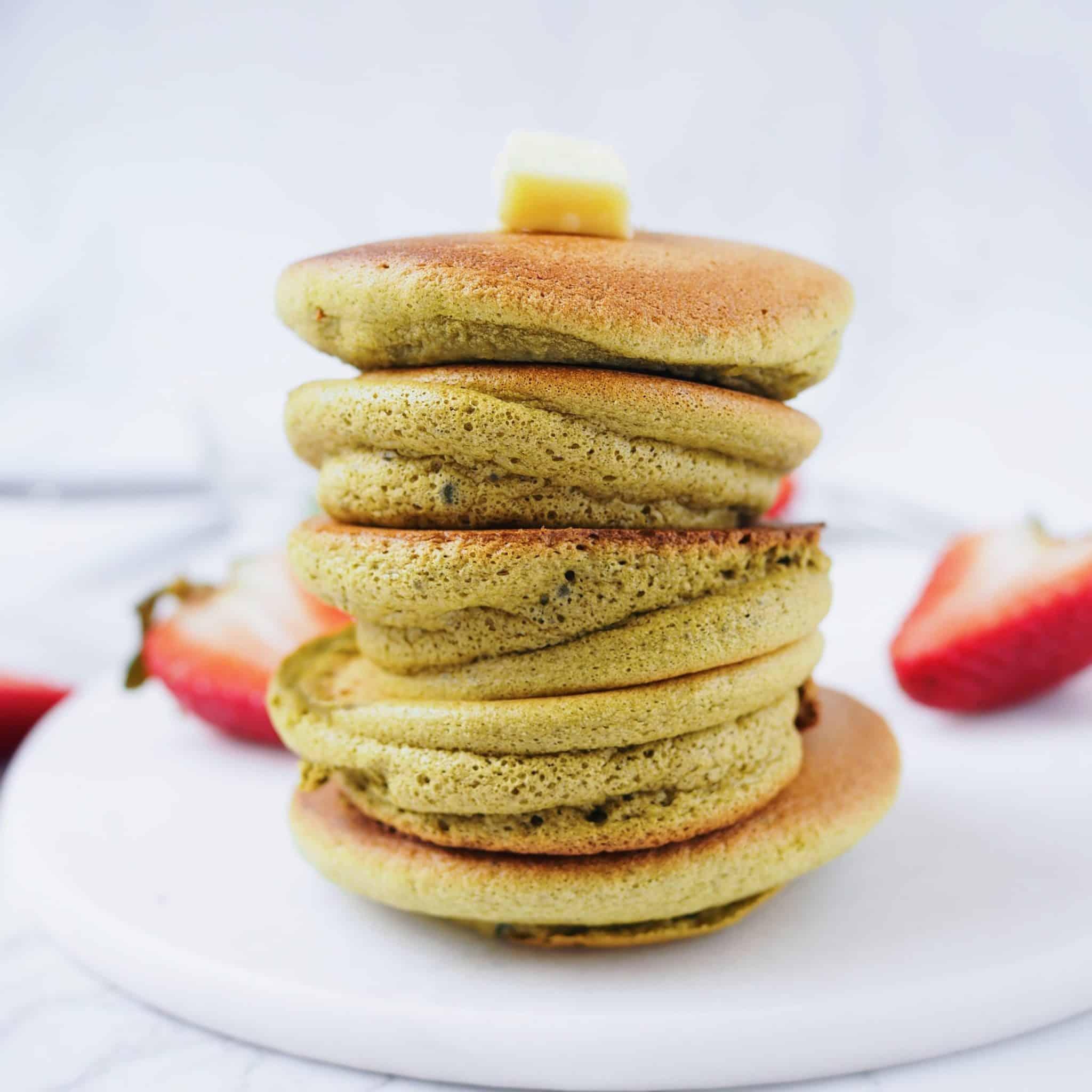 Japanese Matcha Soufflé Pancakes