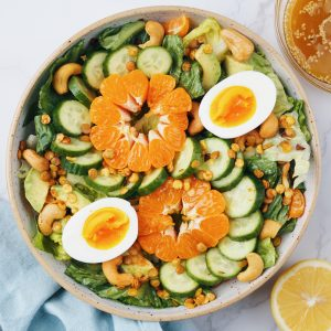 Asian Salad with Sesame Lemon Dressing