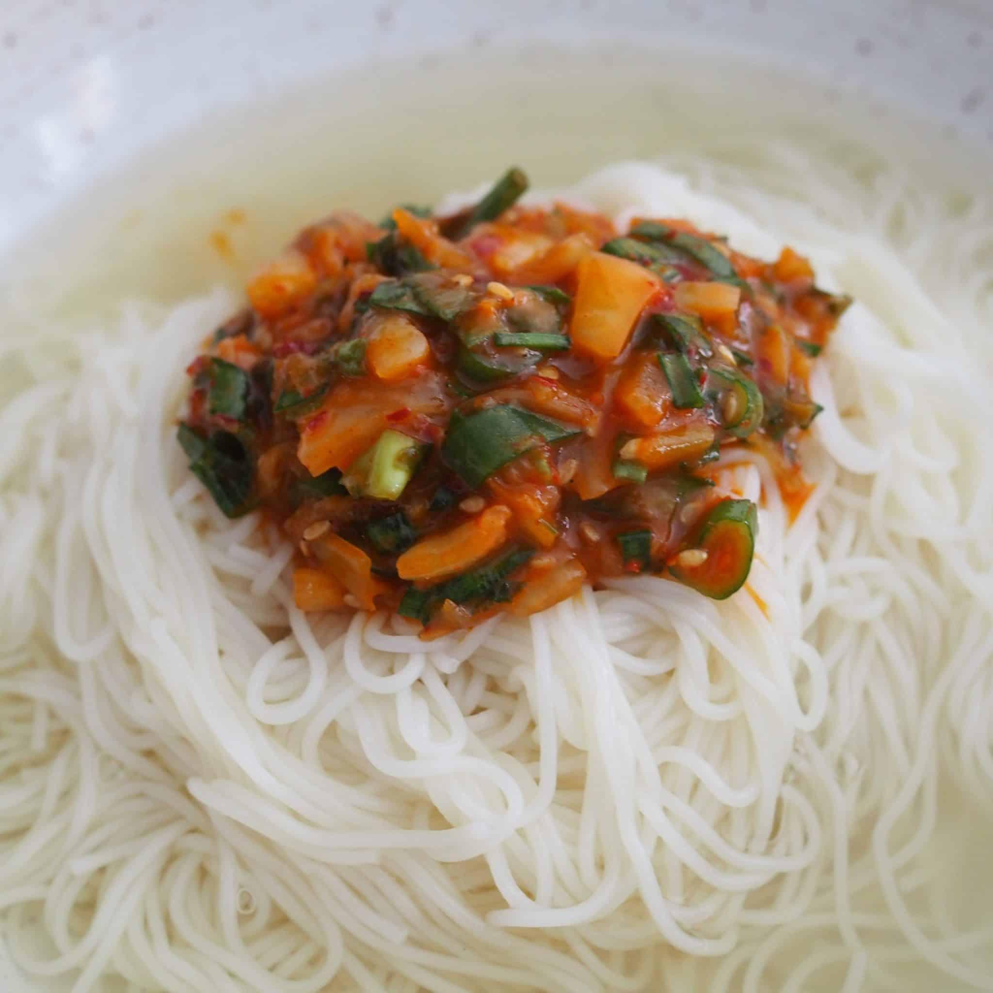 Janchi Guksu (Warm Korean Noodles)