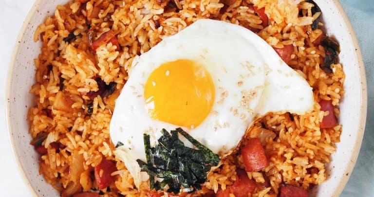 kimchi sausage fried rice