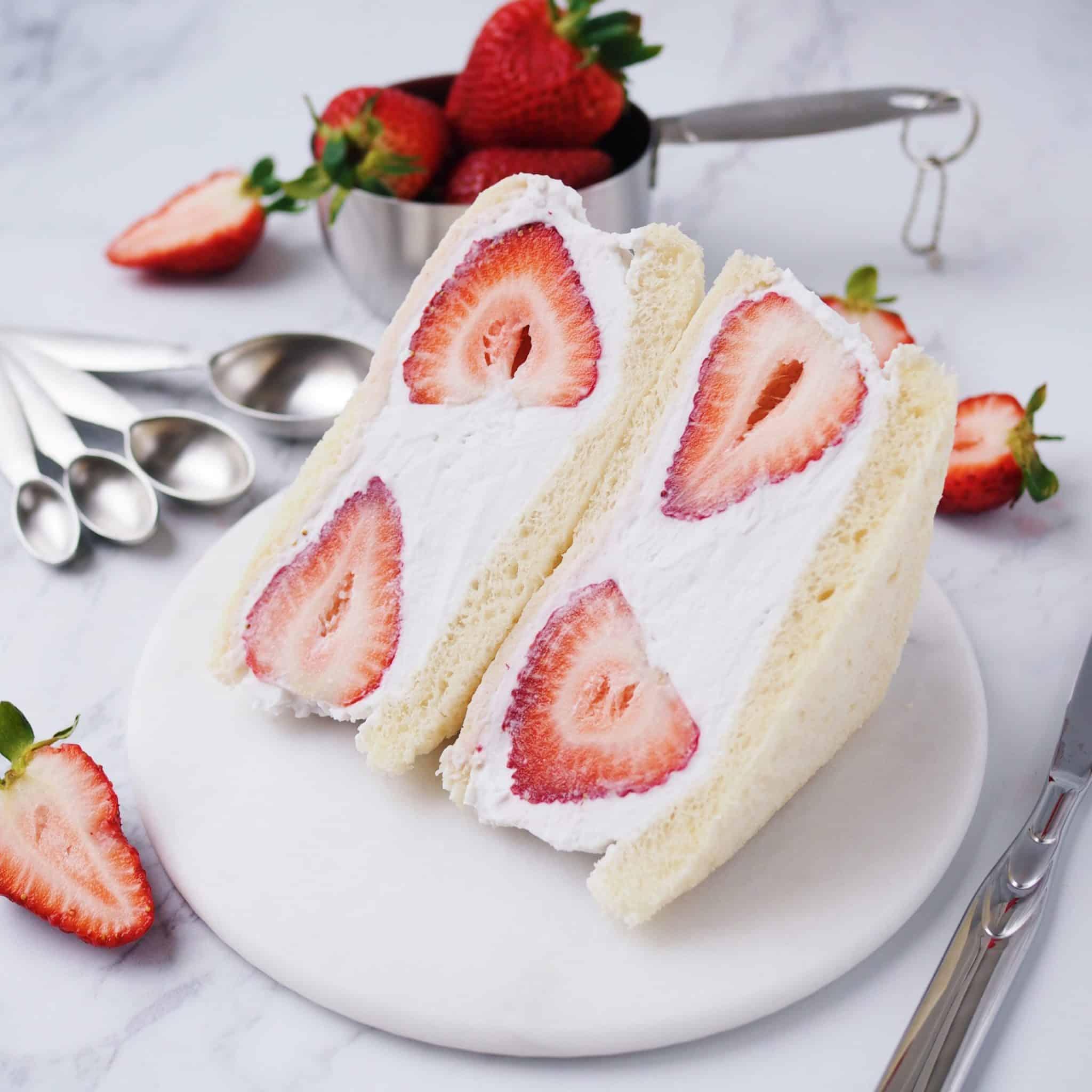 Strawberry Coconut Cream Sandwich.