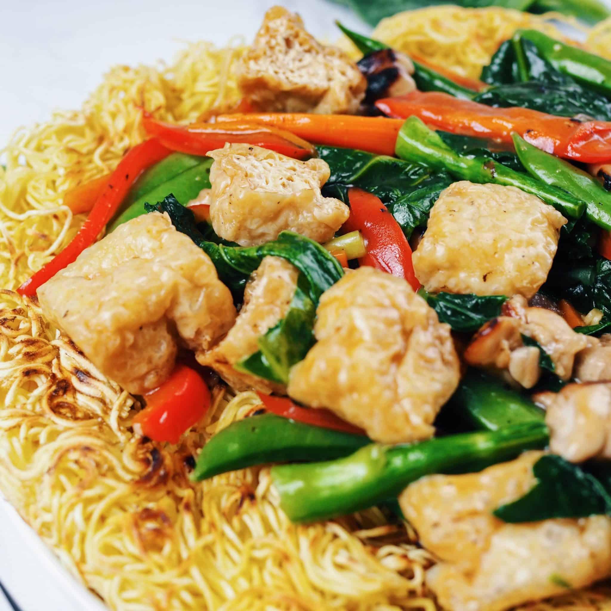 Chicken Tofu Vegetable Chow Mein