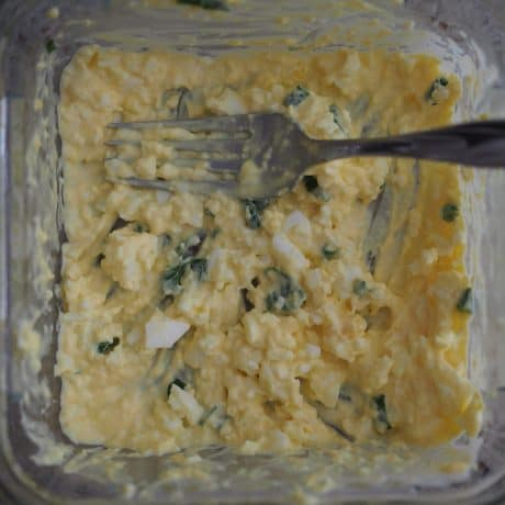 egg salad for Japanese Egg Sandwich