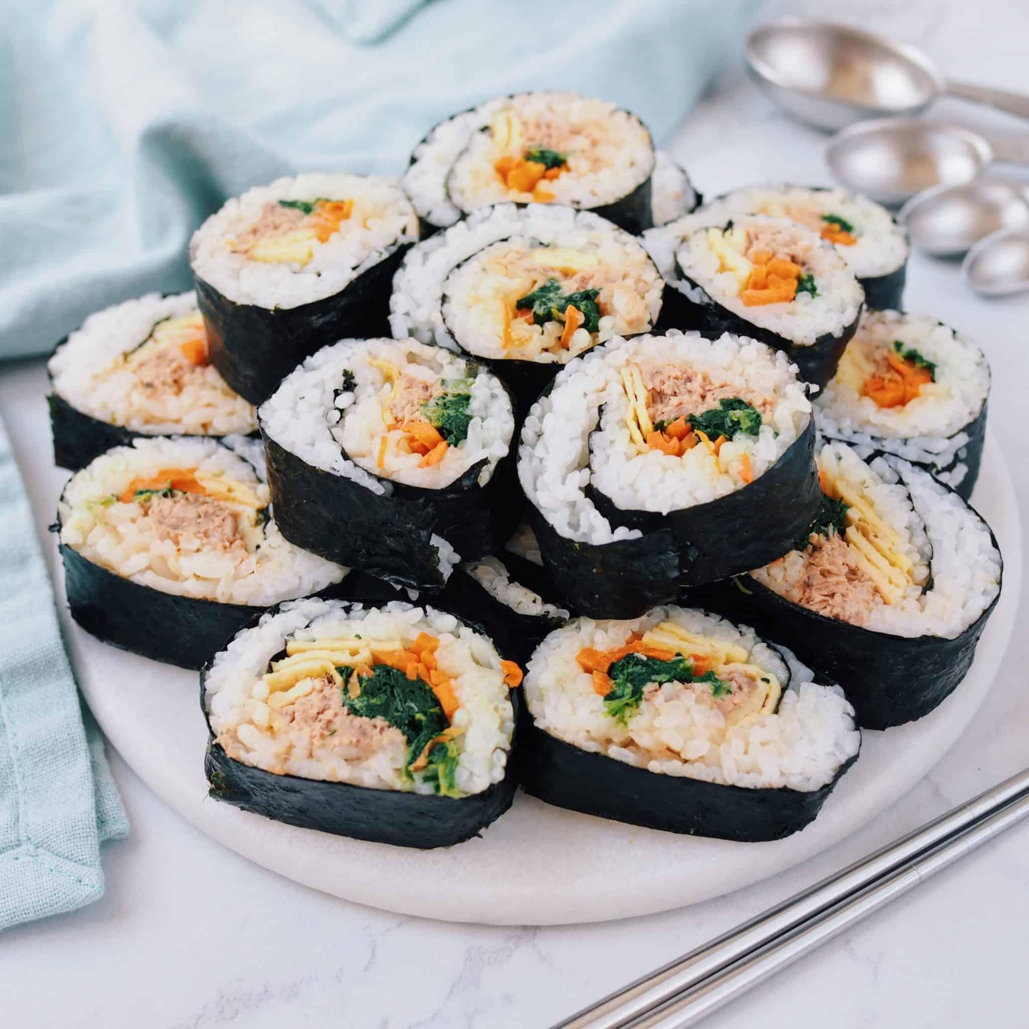 spicy tuna kimbap recipe