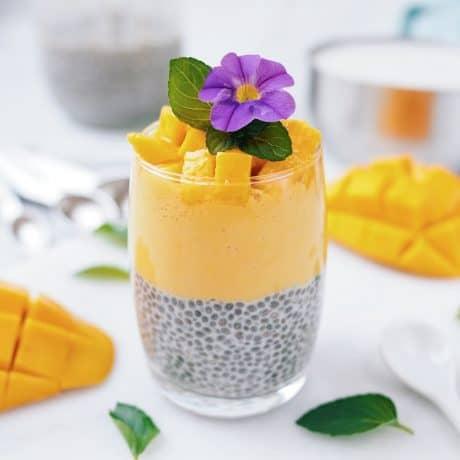 Mango Coconut Chia Pudding