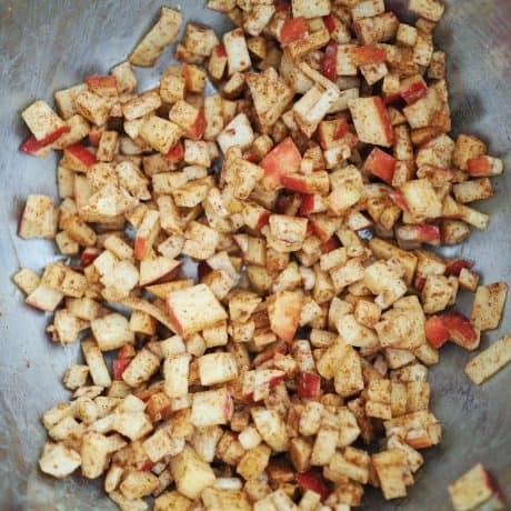 Apple Cinnamon Wontons filling