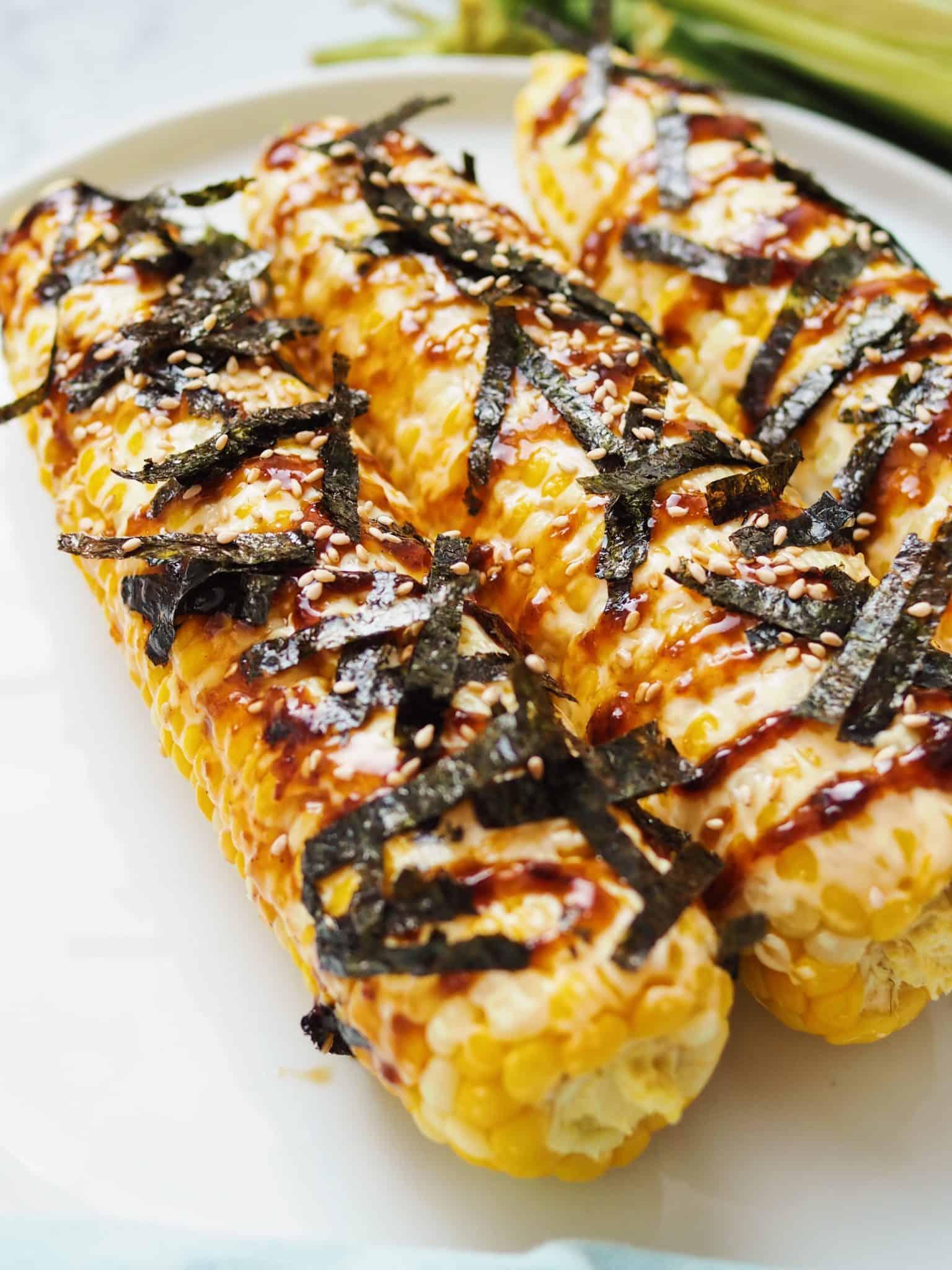 Korean inspired mexican street corn