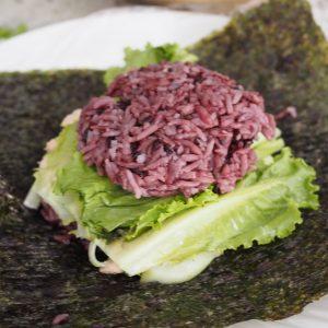 Layer your Onigirazu (Sushi Sandwich)