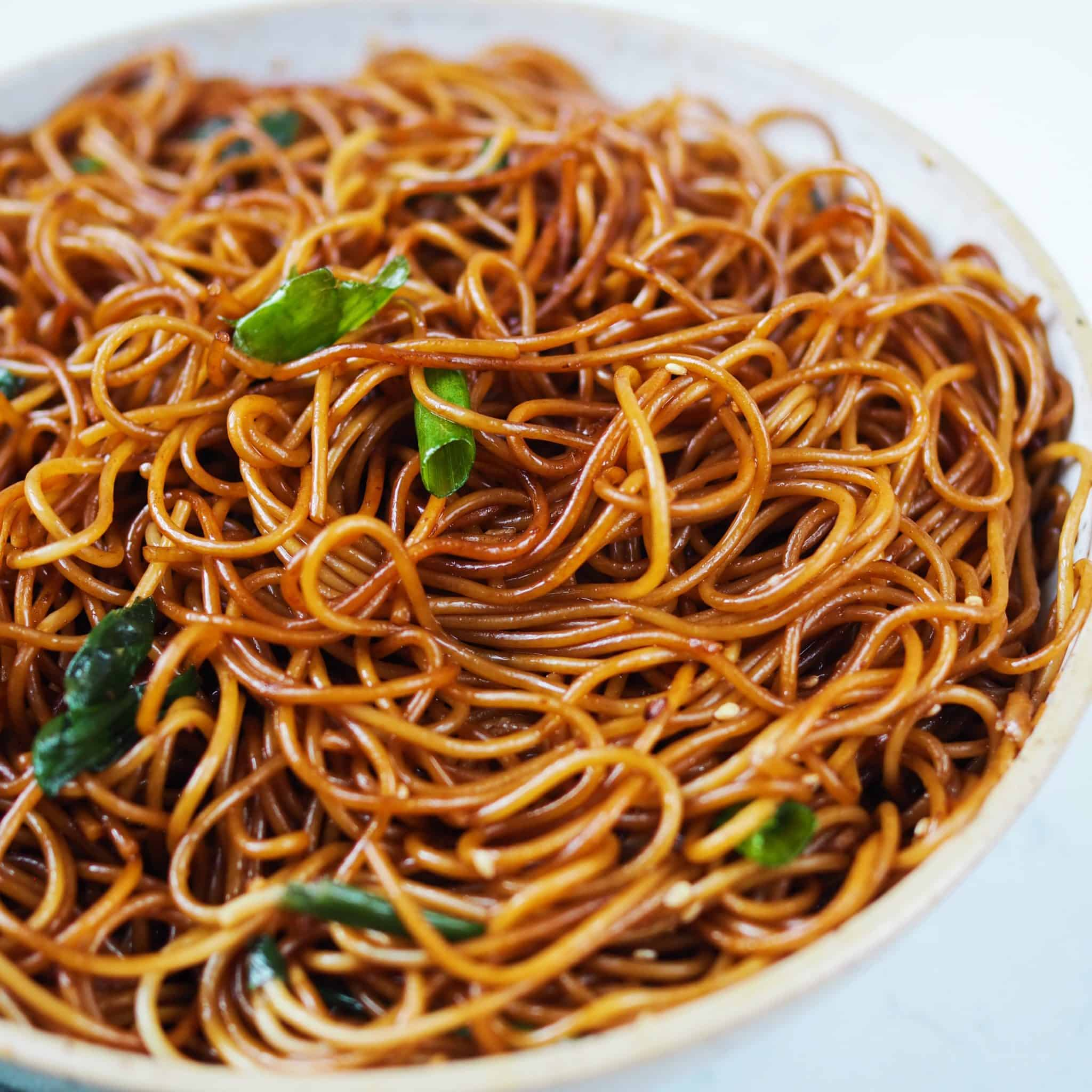 chinese scallion oil noodles