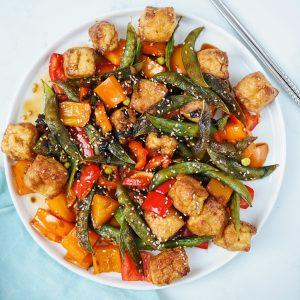 Sweet Soy Tofu Veggie Stirfry