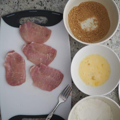 pork cutlet prep