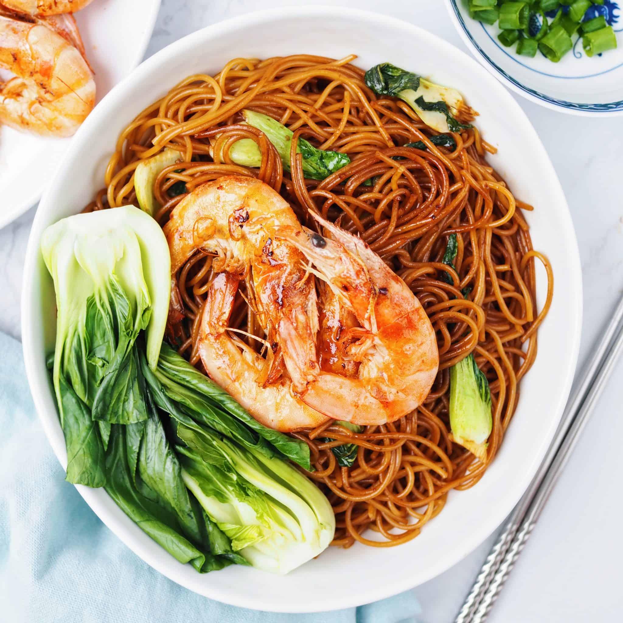 shrimp bok choy noodles