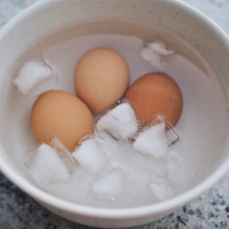 ice bath for eggs