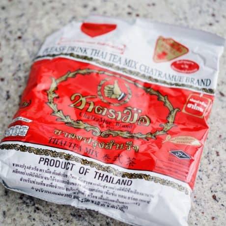 black thai tea leaves
