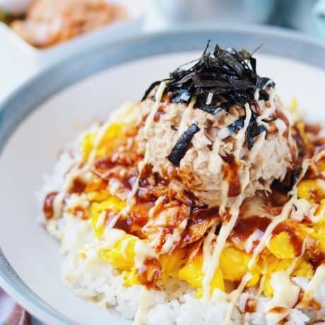 korean tuna mayo deopbap