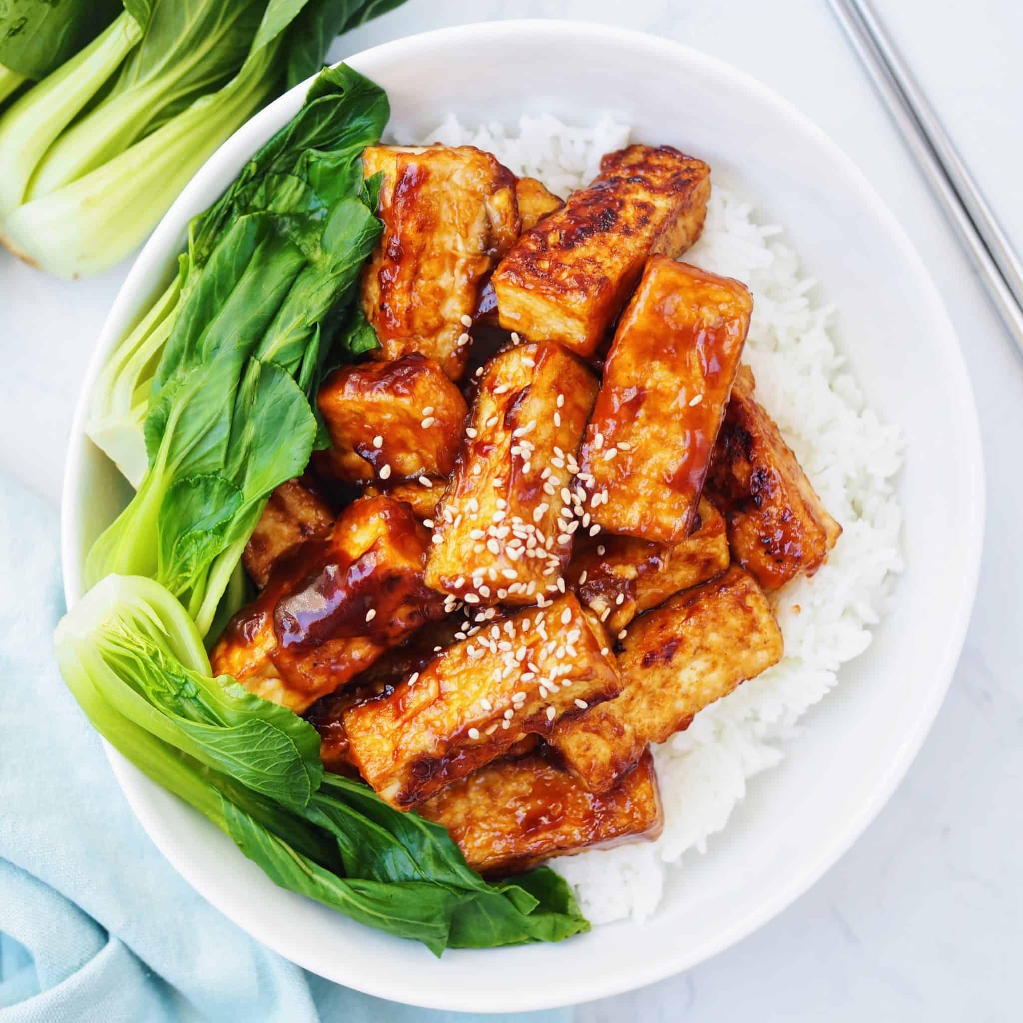 Sweet and Sticky Tofu