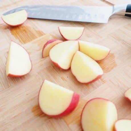 quarter your red potatoes for Lemon Dill Potato Salad
