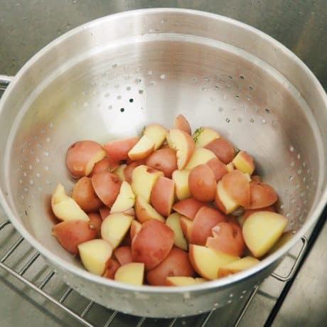 strain potatoes