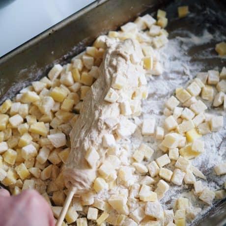 coat in diced potatoes