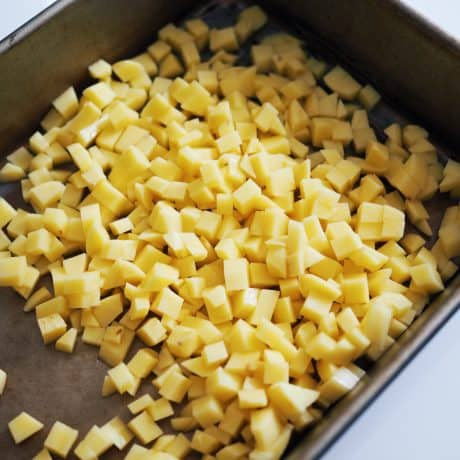 diced potatoes for French Fry Corn Dog