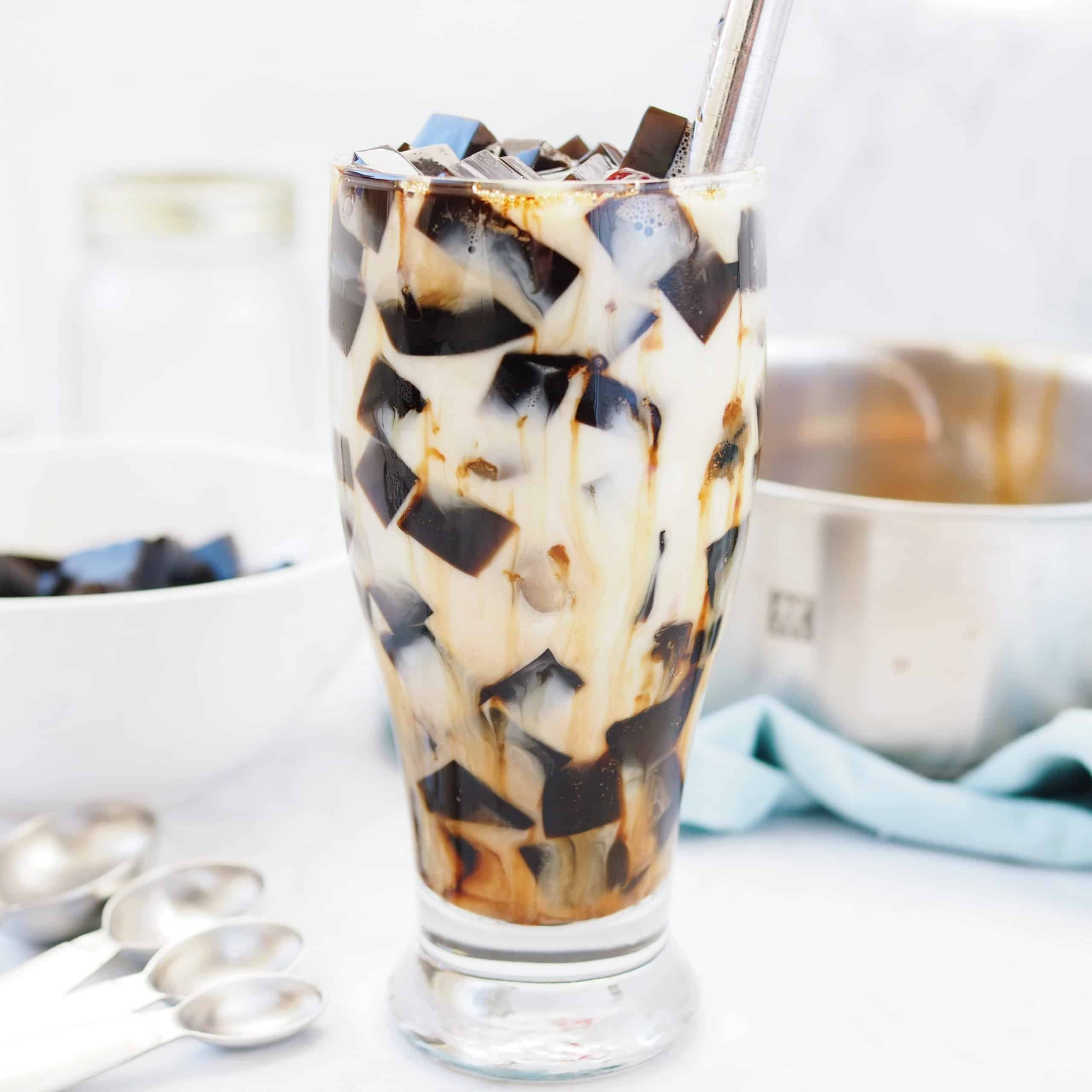 Grass Jelly Brown Sugar Milk