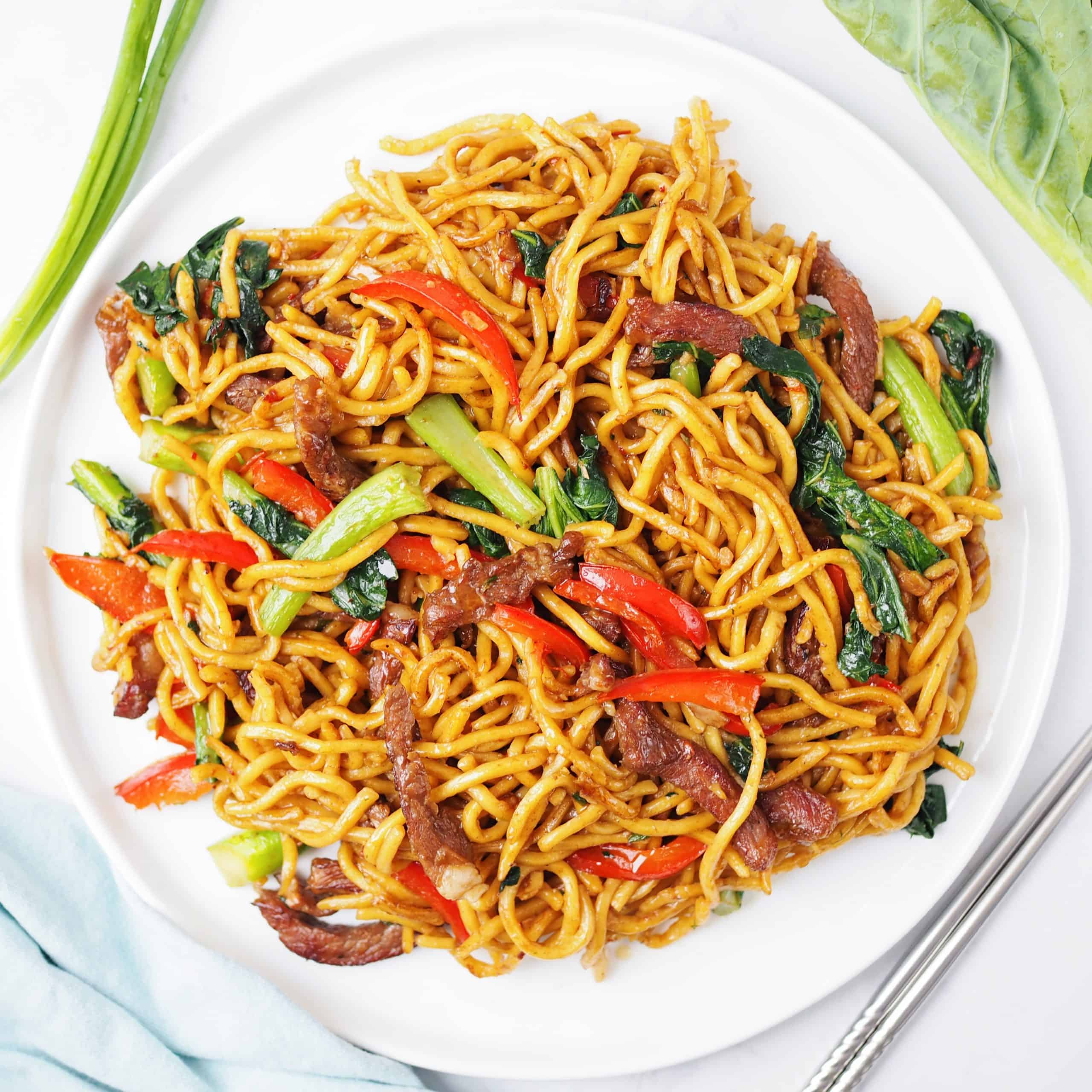 hoisin beef noodles